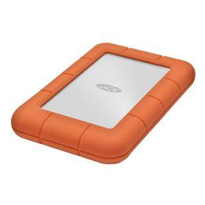 LaCie Rugged Mini 2 TB External Hard Drive - USB 3.0 - 5400 rpm - Portable - Orange, Silver - 1 Pack 9000298
