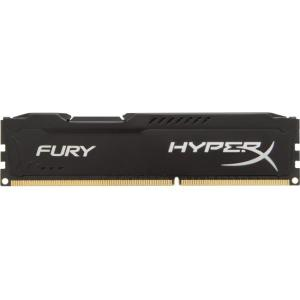 Kingston HyperX Fury Memory Black - 8GB Module - DDR3 1866MHz - 8 GB (1 x 8 GB) - DDR3 SDRAM - 1866 MHz DDR3-1866/PC3-15000 - 1.50 V - Non-ECC - Unbuffered - 240-pin - DIMM HX318C10FB/8