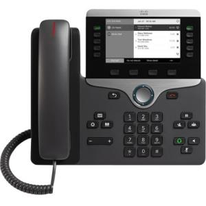 Cisco 8811 IP Phone - Wall Mountable - Black - VoIP - Caller ID - SpeakerphoneUser Connect License - 2 x Network (RJ-45) - PoE Ports CP-8811-K9=