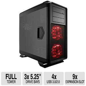 "Corsair Graphite 760T Computer Case - Full-tower - Black - Steel, Plastic - 9 x Bay - 3 x 5.51"" x Fan(s) Installed - 0 - Mini ITX, Micro ATX, ATX, EATX, XL-ATX Motherboard Supported - 24.69 lb - 10"