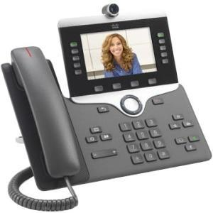 Cisco 8845 IP Phone - Wall Mountable - Charcoal - VoIP - Caller ID - SpeakerphoneEnhanced User Connect License - 2 x Network (RJ-45) - PoE Ports - Color - SIP, SDP, UDP, RTP, DHCP, GARP, RTCP, PPDP, L