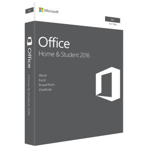 Microsoft Office MAC Home and Student 2016 English NA Only Medialess P2 GZA-00850