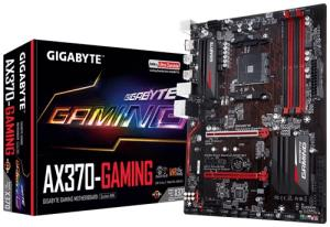 GIGABYTE GA-AX370-GAMING ATX Motherboard - Socket AM4 - AMD X370 Chipset - Supports DDR4-3200(OC) - 1x PCIe 3.0 x16 - 3x PCIe 2.0 x1 - CrossFire Ready - 1x M.2 Socket3 - HDMI 1.4b - USB 3.1 Type-A - G