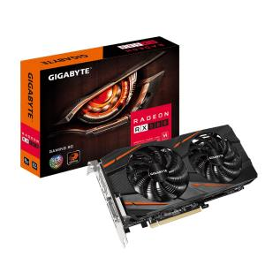 GIGABYTE Radeon RX 580 Gaming 8G Video Card - 8GB 256-bit GDDR5 - PCI Express 3.0 x16 - 1355MHz OC Mode Core Clock - CrossFire Ready - DirectX 12 - WINDFORCE 2X 90mm Fans - DL-DVI-D - HDMI - 3x Displa