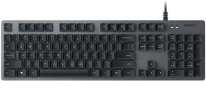 Logitech K840 Mechanical Corded Keyboard - Aluminum Build Top Case w/ ROMER-G Mechanical Switches 920-008350