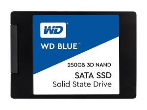 "WD Blue 3D NAND 250GB PC SSD - SATA III 6 Gb/s 2.5""/7mm Solid State Drive - 550 MB/s Maximum Read Transfer Rate - 5 Year Warranty WDS250G2B0A"