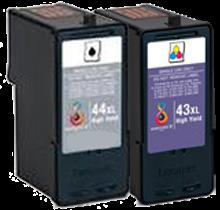Compatible LEXMARK 18Y0143 / 18Y0144 #43XL / #44XL INK / INKJET Cartridge Combo Pack Black Tri-Color High Yield