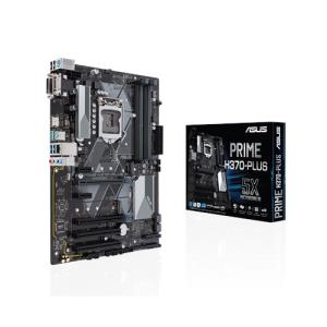ASUS PRIME H370-PLUS ATX Motherboard - Socket LGA 1151 - Intel H370 Chipset - Supports DDR4-2666 - 2x PCIe 3.0 x16 - 2x PCIe 3.0 x1 - CrossFireX Ready - 2x M.2 Socket3 - D-Sub - HDMI - DVI-D - USB 3.1