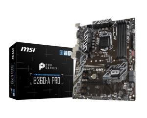 MSI B360-A PRO LGA 1151 (300 Series) Intel B360 SATA 6Gb/s USB 3.1 ATX Intel Motherboard