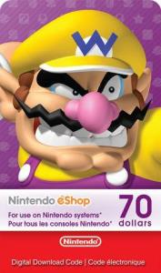 Nintendo Ecash $70 Digital Download