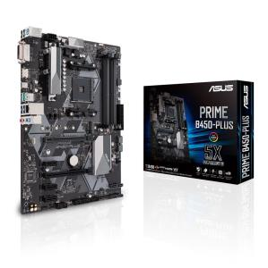 ASUS PRIME B450-PLUS Socket AM4 - Dual Channel DDR4 PCIe 3.0, M.2 - USB 3.1, HDMI, DVI, RGB ATX Motherboard
