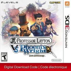 Nintendo 3Ds Professor Layton Vs. Phoenix Wright: Ace Attorney [Download] 6000198901431
