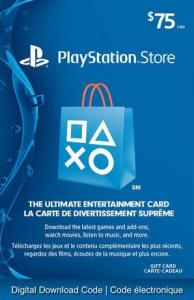 Sony Playstationnetwork - $75 Playstation Store Gift Card [Digital Download] 6000198375647