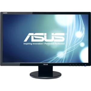"ASUS VE248Q Black 24"" LED LCD Widescreen Monitor - 16:9 2ms GTG ASCR 50,000,000:1 (1,000:1) VESA Built-in Speakers DisplayPort HDMI VGA"