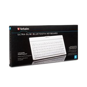 Verbatim 97754 White Bluetooth Wireless Keyboard for iPhone, iPod Touch, iPad, iPad2 and Other Tablets