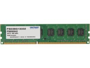 Patriot Signature PSD38G13332 8GB Memory Module - DIMM, PC3-10600, DDR3 1333MHz, CAS 9, 1.5V, Non-ECC Unbuffered