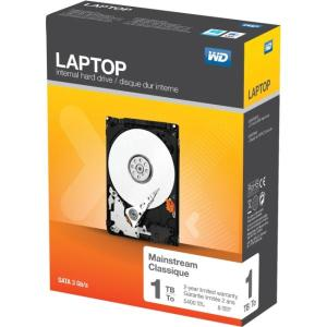 WD Laptop Mainstream Internal Hard Drive 2.5 Inch, 5400 RPM, SATA III, 8 MB Cache - SATA - 5400 rpm - 8 MB Buffer WDBMYH0010BNC-NRSN