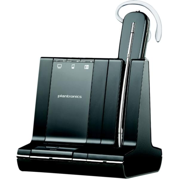 Plantronics Savi W745-M Headset - Mono - Wireless - DECT - 350 ft - Over-the-ear, Behind-the-neck, Over-the-head - Monaural - In-ear - Noise Cancelling Microphone 86507-21