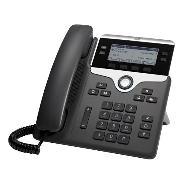 Cisco 7841 IP Phone - Wall Mountable - 4 x Total Line - VoIP - Caller ID - Speakerphone - 2 x Network (RJ-45) - PoE Ports - Monochrome CP-7841-K9=