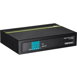 TRENDnet 5-Port Gigabit PoE+ Switch - 5 Ports - 10/100/1000Base-T - 2 Layer Supported - Desktop - 3 Year