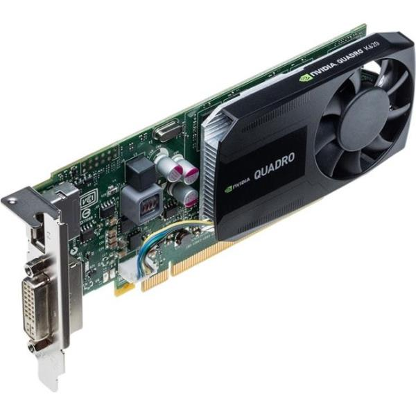 PNY Quadro K620 Graphic Card - 2 GB GDDR3 - Low-profile - Single Slot Space Required - 128 bit Bus Width - 3840 x 2160 - Fan Cooler - DirectCompute, OpenCL, DirectX 11.2, OpenGL 4.5 - 1 x DisplayPort