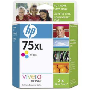 HP 75XL Original Ink Cartridge - Single Pack - Thermal Transfer - 520 Pages - Color - 1 Each CB338WN#140