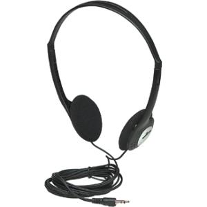 Manhattan Lightweight Stereo Headphones with Cushioned Earpads - Long cord easily reaches desktop and notebook computers and other devices 177481