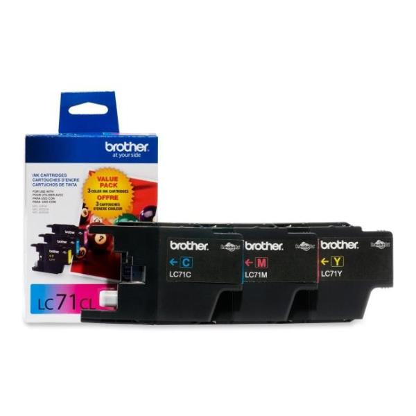 brother LC713PKS Innobella LC71 Color Ink Cartridges (1 each of Cyan, Magenta and Yellow) 3 Colors
