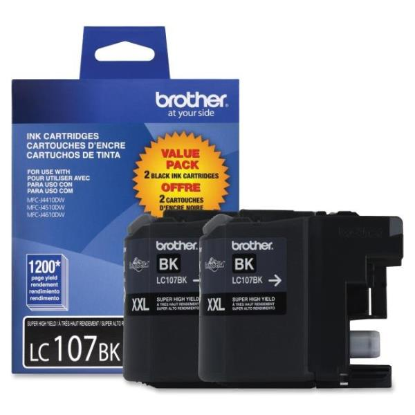 Brother Innobella LC1072PKS Original Ink Cartridge - Black - Inkjet - High Yield - 1200 Pages - 2 / Pack