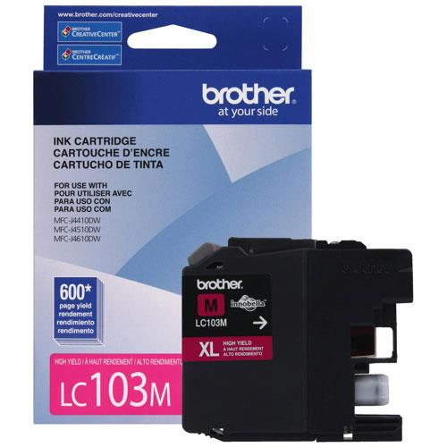 Brother Innobella Ink Cartridge - Magenta - Inkjet - 600 Page - 1 Pack - OEM LC103MS
