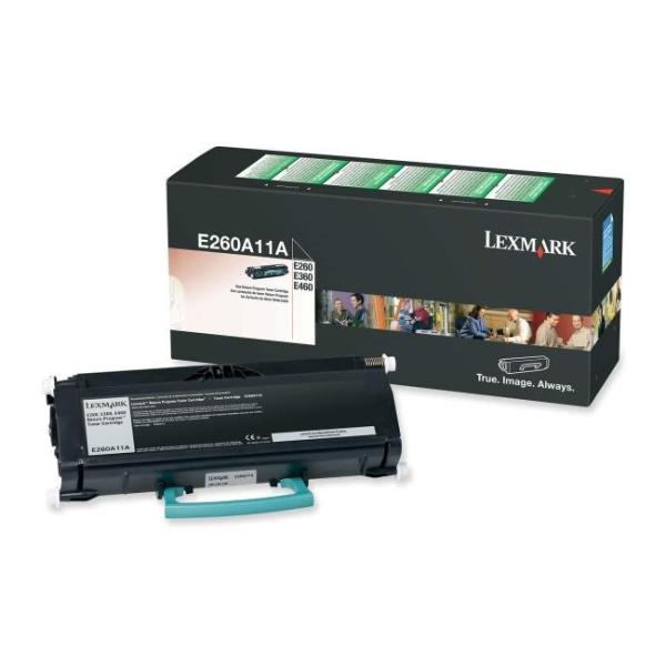 Part # Description Avail Price Lexmark E260A11A Black Return Program Toner Cartridge for E260/E360/E460