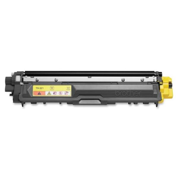 Brother Toner Cartridge - Yellow - Laser - 1400 Page TN221Y