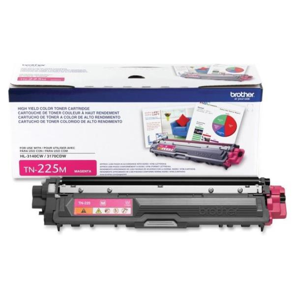 Brother Toner Cartridge - Magenta - Laser - 2200 Page TN225M