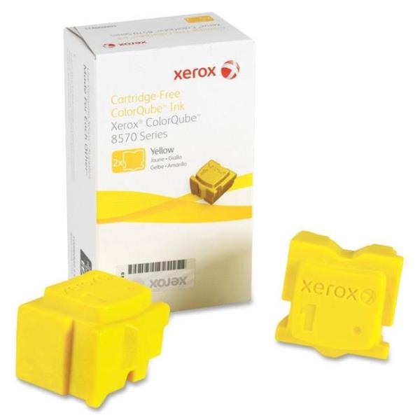 2PK YELLOW SOLID INK STICK FOR 108R00928
