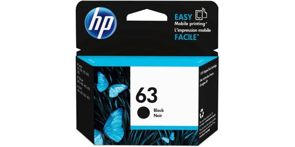 HP 63 Original Ink Cartridge - Single Pack - Inkjet - 190 Pages - Black - 1 Each F6U62AN#140