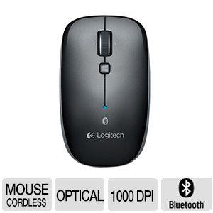 Logitech Bluetooth Mouse M557 - Optical - Wireless - Bluetooth - Dark Gray - 1000 dpi - Tablet, Computer, Notebook - Tilt Wheel - Symmetrical 910-003971