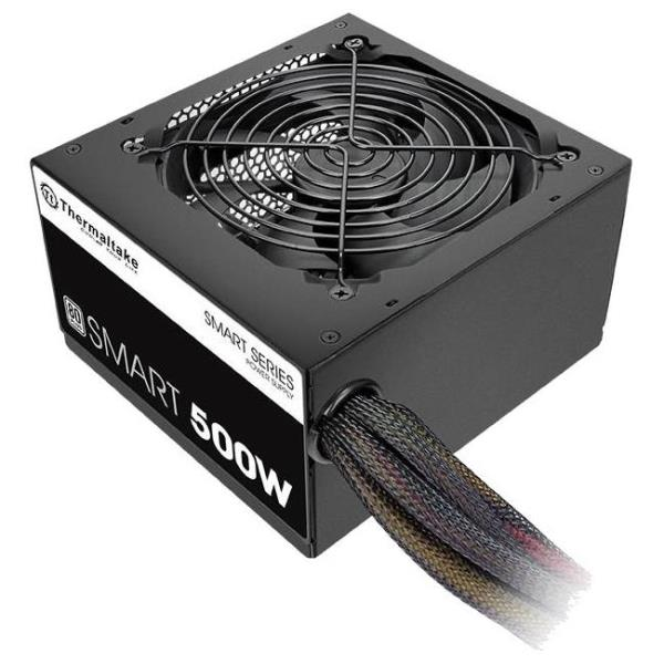 Thermaltake Smart SP-500AH2NKW ATX12V & EPS12V Power Supply - Internal - 120 V AC, 230 V AC Input - 500 W / 3.3 V DC, 5 V DC, 12 V DC, -12 V DC, 5 V DC - 1 +12V Rails - 1 Fan(s) - 86% Efficiency PS-SP