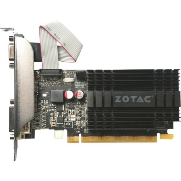 Zotac GeForce GT 710 Graphic Card - 954 MHz Core - 1 GB DDR3 SDRAM - PCI Express 2.0 - Low-profile - Single Slot Space Required - 64 bit Bus Width - SLI - Passive Cooler - OpenGL 4.5, OpenCL, DirectX