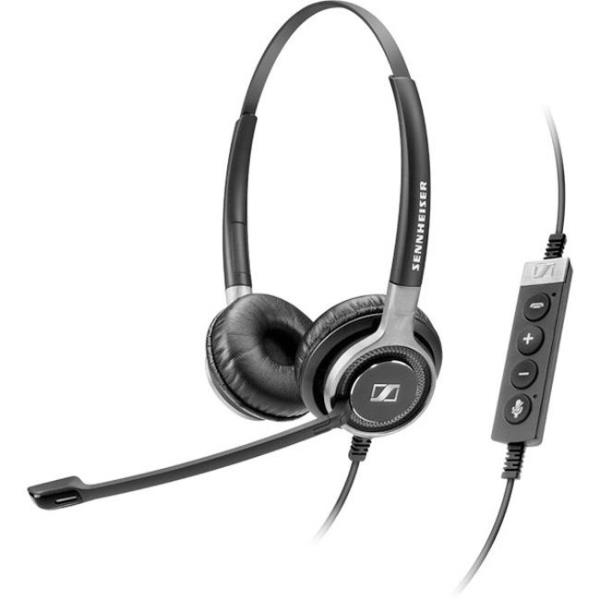 Sennheiser Century SC 660 USB CTRL Headset - Stereo - Black - USB - Wired - 150 Hz - 6.80 kHz - Over-the-head - Binaural - Supra-aural - 9.5 ft Cable - Noise Cancelling Microphone 504555