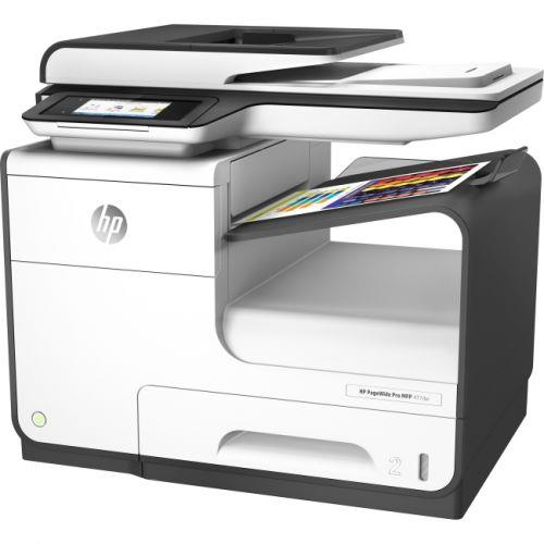 HP PageWide Pro 477dw Page Wide Array Multifunction Color Inkjet Printer - Copier - Fax - Printer - Scanner - 40ppm - 2400 x 1200dpi - Auto Document Feeder - 550 sheets Input - Fast Ethernet - Wireles