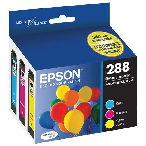 Epson DURABrite Ultra T288 Ink Cartridge - Cyan, Magenta, Yellow - Inkjet - 165 Pages - 3 / Pack T288520-S