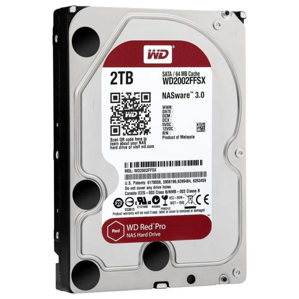 "WD Red Pro 2 TB Hard Drive - SATA (SATA/600) - 3.5"" Drive - Internal - 7200rpm - 64 MB Buffer WD2002FFSX"