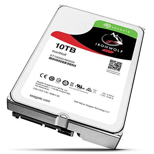 "Seagate IronWolf ST10000VN0004 10 TB Hard Drive - SATA (SATA/600) - 3.5"" Drive - Internal - 7200rpm - 256 MB Buffer - 3 Year Warranty"