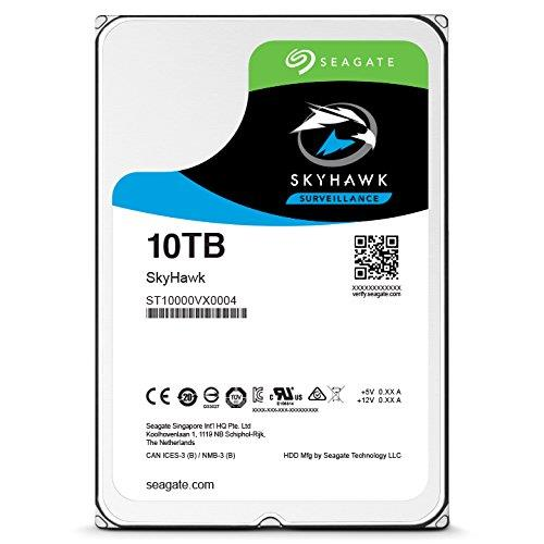 Seagate SkyHawk ST10000VX0004 10 TB Hard Drive - SATA (SATA/600) - Internal - 256 MB Buffer - 3 Year Warranty