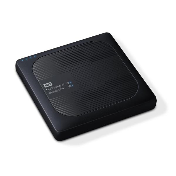 WD 2TB My Passport Wireless Pro Portable External Hard Drive - WiFi AC, SD, USB 3.0 - 256 MB Buffer - 2 Year Warranty WDBP2P0020BBK-NESN