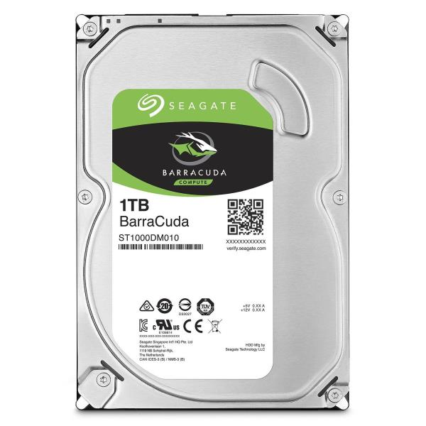 "Seagate Barracuda ST1000DM010 1 TB Hard Drive - SATA (SATA/600) - 3.5"" Drive - Internal - 7200rpm - 64 MB Buffer - 2 Year Warranty"
