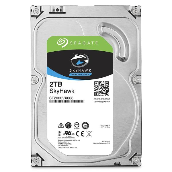 Seagate SkyHawk ST2000VX008 2 TB Hard Drive - SATA (SATA/600) - Internal - 64 MB Buffer - 3 Year Warranty