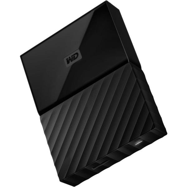 WD My Passport WDBYNN0010BBK-WESN 1 TB Hard Drive - External - Portable - Black - USB 3.0 - 256-bit Encryption Standard - 3 Year Warranty