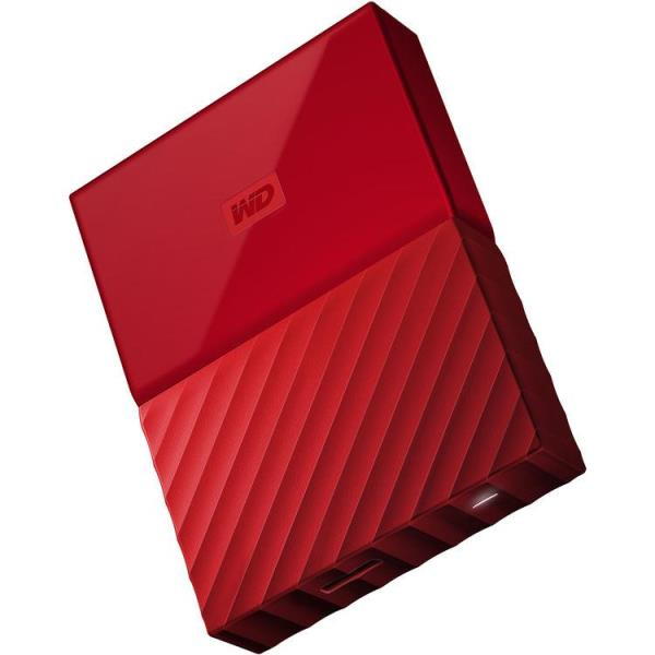 WD My Passport WDBYFT0030BRD-WESN 3 TB Hard Drive - External - Portable - Red - USB 3.0 - 256-bit Encryption Standard - 3 Year Warranty
