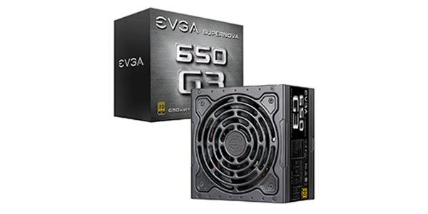 EVGA SuperNOVA 650 G3 80 Plus Gold 650W Full Modular Eco Mode w/ HDB Fan Compact Size Power Supply 220-G3-0650-Y1